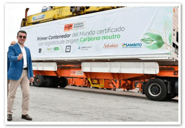 el primer contenedor con certificación carbono neutro del mundo